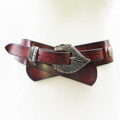 Marketender Doppelgürtel-6cm-rot-Federgras